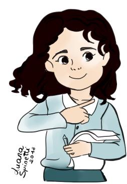 Image: cartoon image of Luana Spinetti, the author of ThePenThinker