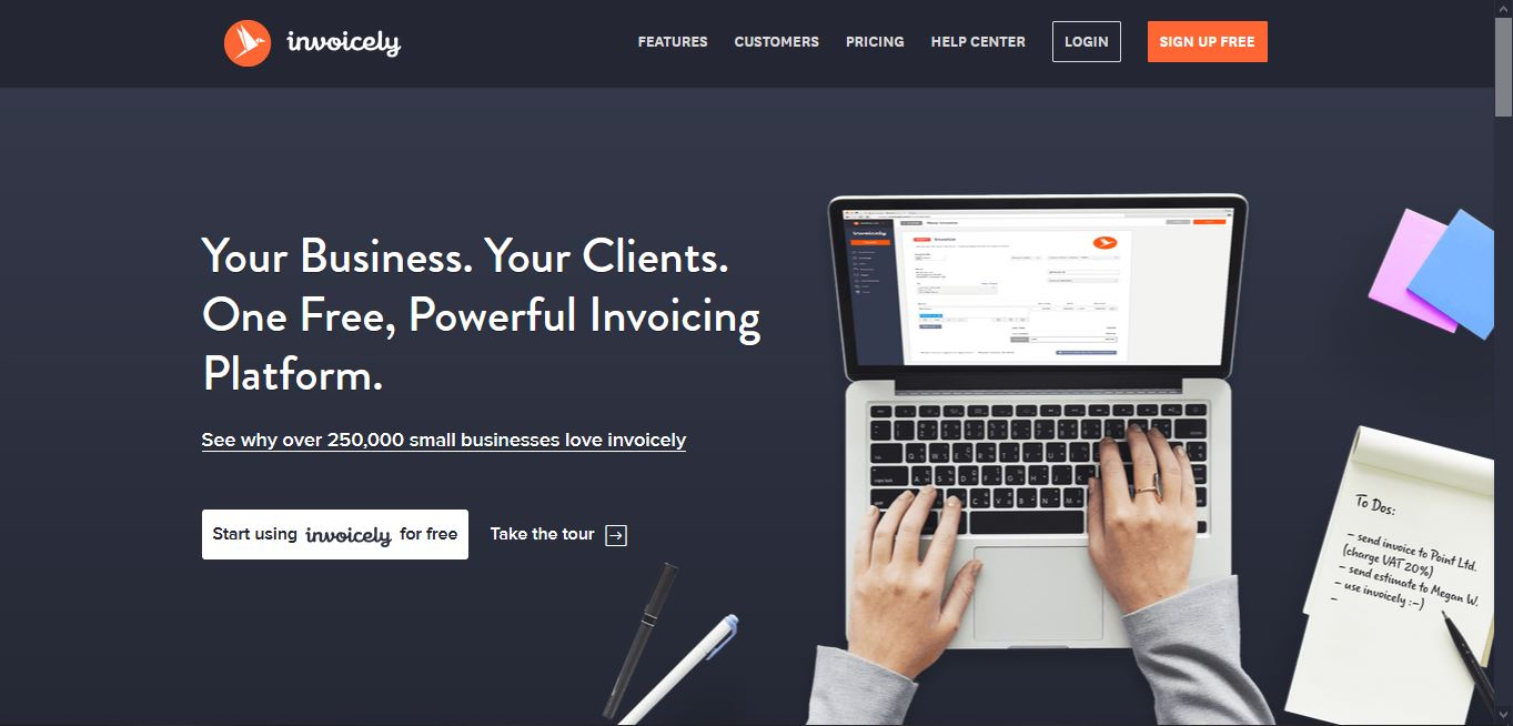 Low cost marketing tools - Invoicely